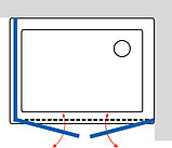 Душевой уголок GuteWetter Practic Rectan GK-402 правая 120x100 см стекло бесцветное, профиль матовый хром, фото 5