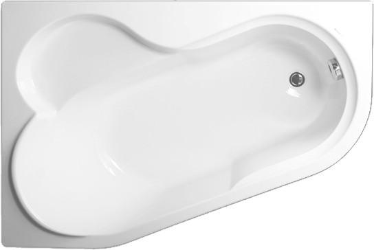 Акриловая ванна Vagnerplast Selena 147 L ультра белый