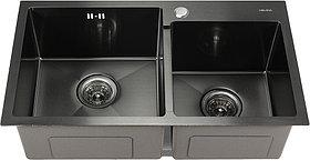 Мойка кухонная Melana S7240HB графит