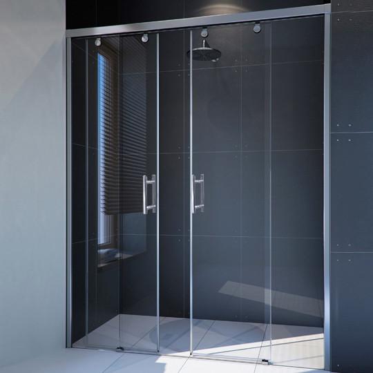 Душевая дверь в нишу GuteWetter Slide Door GK-864 120 см стекло бесцветное, профиль хром