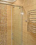 Душевая дверь в нишу GuteWetter Slide Door GK-864 120 см стекло бесцветное, профиль хром, фото 4