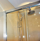 Душевая дверь в нишу GuteWetter Slide Door GK-864 120 см стекло бесцветное, профиль хром, фото 5