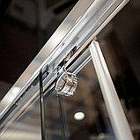 Душевая дверь в нишу GuteWetter Slide Door GK-864 120 см стекло бесцветное, профиль хром, фото 7