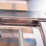 Душевая дверь в нишу GuteWetter Slide Door GK-864 120 см стекло бесцветное, профиль хром, фото 8