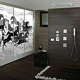 Термостат Bossini Rectangular 2 Outlets LP Z033203 для ванны с душем, хром, фото 2