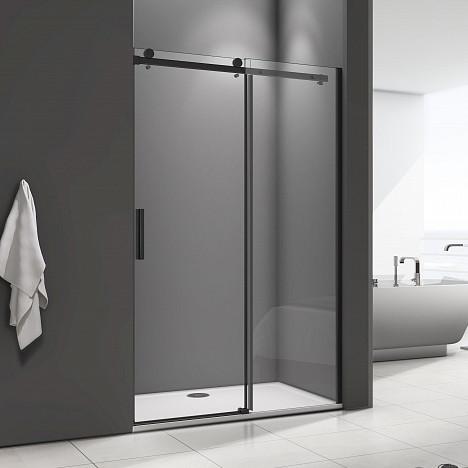 Душевая дверь в нишу Good Door Galaxy WTW-120-C-B профиль черный