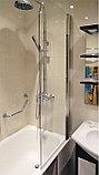 Шторка на ванну GuteWetter Lux Pearl GV-601 правая 60 см стекло бесцветное, профиль хром, фото 2
