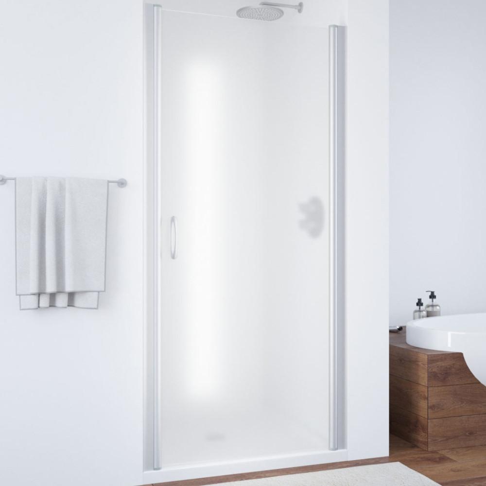 Душевая дверь в нишу Vegas Glass EP 65 07 10 профиль матовый хром, стекло сатин