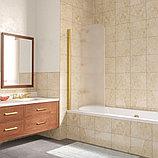 Шторка на ванну Vegas Glass EV Lux 75 09 10 L профиль золото, стекло сатин, фото 2