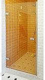 Душевая дверь в нишу GuteWetter Trend Door GK-861 левая 75 см стекло бесцветное Two, фурнитура хром, фото 2