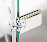 Душевая дверь в нишу GuteWetter Trend Door GK-861 левая 75 см стекло бесцветное Two, фурнитура хром, фото 6