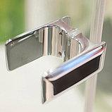 Душевая дверь в нишу GuteWetter Trend Door GK-861 левая 75 см стекло бесцветное Two, фурнитура хром, фото 7