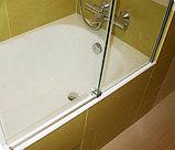 Шторка на ванну GuteWetter Slide Pearl GV-862 правая 75 см стекло бесцветное, профиль хром, фото 3