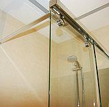 Шторка на ванну GuteWetter Slide Pearl GV-862 правая 75 см стекло бесцветное, профиль хром, фото 4