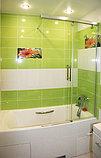 Шторка на ванну GuteWetter Slide Pearl GV-862 правая 75 см стекло бесцветное, профиль хром, фото 5