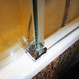 Шторка на ванну GuteWetter Slide Pearl GV-862 правая 75 см стекло бесцветное, профиль хром, фото 7