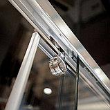 Шторка на ванну GuteWetter Slide Pearl GV-862 правая 75 см стекло бесцветное, профиль хром, фото 9