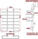 Полотенцесушитель электрический Ника Mix Вираж 80/60-6 R, фото 3