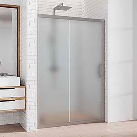 Душевая дверь в нишу Kubele DE019D2-MAT-MT 130 см, профиль матовый хром