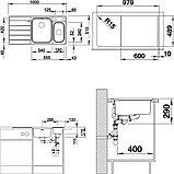 Мойка кухонная Blanco Axis III 6S-IF L, фото 2