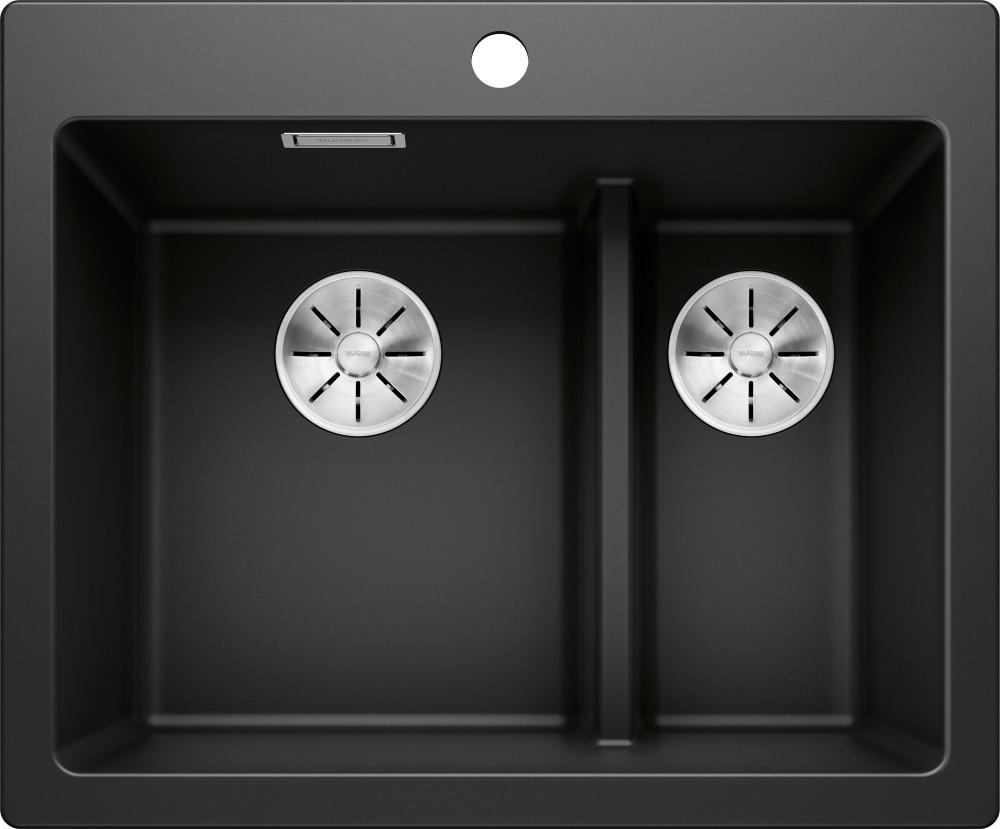 Мойка кухонная Blanco Pleon 6 Split черная