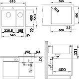 Мойка кухонная Blanco Pleon 6 Split черная, фото 2