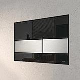 Кнопка смыва TECE Square 9240806 черное стекло, кнопка сатин, фото 3
