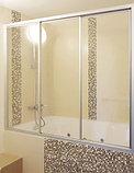 Шторка на ванну GuteWetter Practic Part GV-403A левая 176-180 см стекло бесцветное, профиль матовый хром, фото 2