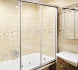 Шторка на ванну GuteWetter Practic Part GV-403A левая 176-180 см стекло бесцветное, профиль матовый хром, фото 3