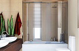 Шторка на ванну GuteWetter Slide Part GV-862 правая 150 см стекло бесцветное, профиль хром, фото 2