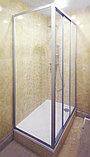 Душевой уголок GuteWetter Practic Rectan GK-403 правая 130x120 см стекло бесцветное, профиль матовый хром, фото 2