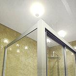 Душевой уголок GuteWetter Practic Rectan GK-403 правая 130x120 см стекло бесцветное, профиль матовый хром, фото 3