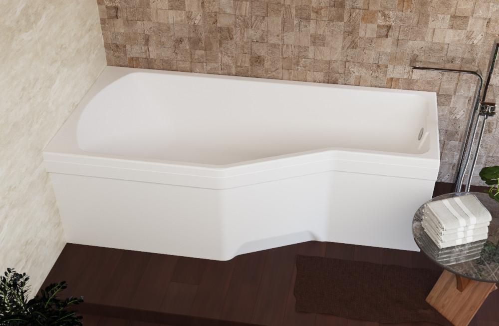 Акриловая ванна Marka One Convey L 150x75, с ножками
