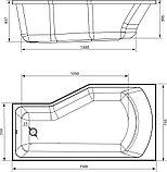 Акриловая ванна Marka One Convey L 150x75, с ножками, фото 3