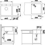 Мойка кухонная Blanco Pleon 5 стиль бетон, фото 3