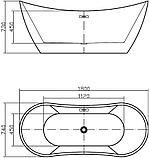 Акриловая ванна Swedbe Vita 8803, фото 4