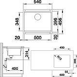 Мойка кухонная Blanco Etagon 500-U 525155 черная, фото 2