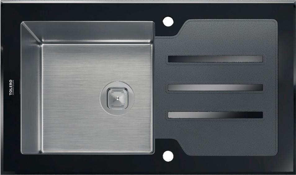 Мойка кухонная Tolero TG-860 черная