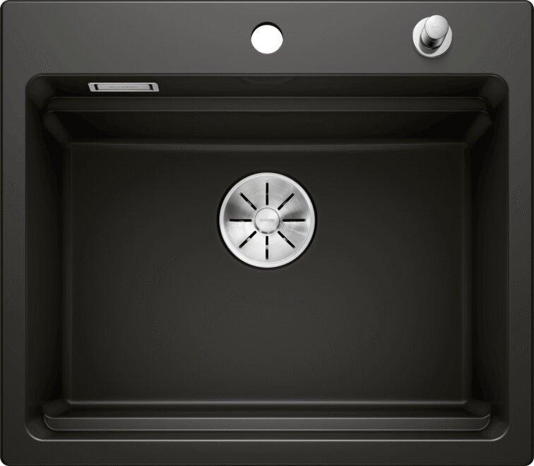 Мойка кухонная Blanco Etagon 6 черная, с клапаном-автоматом