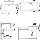 Мойка кухонная Blanco Etagon 6 черная, с клапаном-автоматом, фото 3