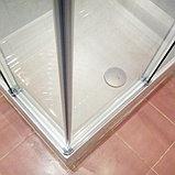 Душевой уголок GuteWetter Slide Rectan GK-864 правая 85x70 см стекло бесцветное, профиль хром, фото 6