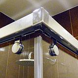 Душевой уголок GuteWetter Slide Rectan GK-864 левая 95x70 см стекло бесцветное, профиль хром, фото 3