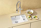 Мойка кухонная Blanco Subline 350/150-U глянцевая белая, с отводной арматурой InFino, фото 2