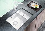Мойка кухонная Blanco Subline 350/150-U глянцевая белая, с отводной арматурой InFino, фото 4