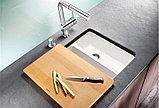 Мойка кухонная Blanco Subline 350/150-U глянцевая белая, с отводной арматурой InFino, фото 6