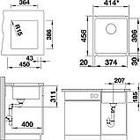 Мойка кухонная Blanco Subline 375-U базальт, фото 2