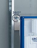 Комплект Система инсталляции для унитазов Grohe Rapid SL 38750001 4 в 1 с кнопкой смыва + Чаша для унитаза, фото 3