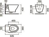 Комплект Система инсталляции для унитазов Grohe Rapid SL 38750001 4 в 1 с кнопкой смыва + Чаша для унитаза, фото 7