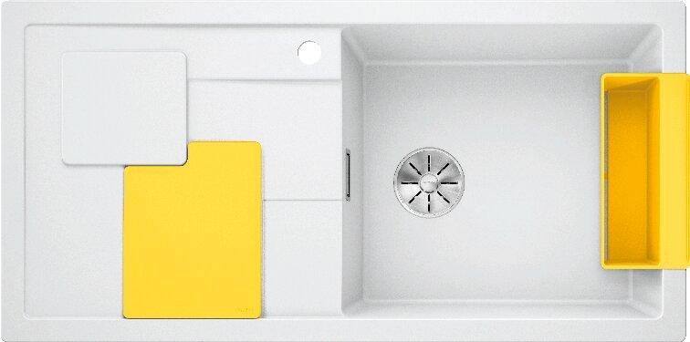 Мойка кухонная Blanco Sity XL 6 S белая, аксессуары лимон