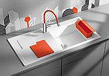 Мойка кухонная Blanco Sity XL 6 S белая, аксессуары апельсин, фото 2